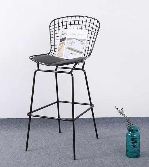 Prime 70Cm Seat Height Modern Design Chromed Or Black Bertoia Bar Theyellowbook Wood Chair Design Ideas Theyellowbookinfo