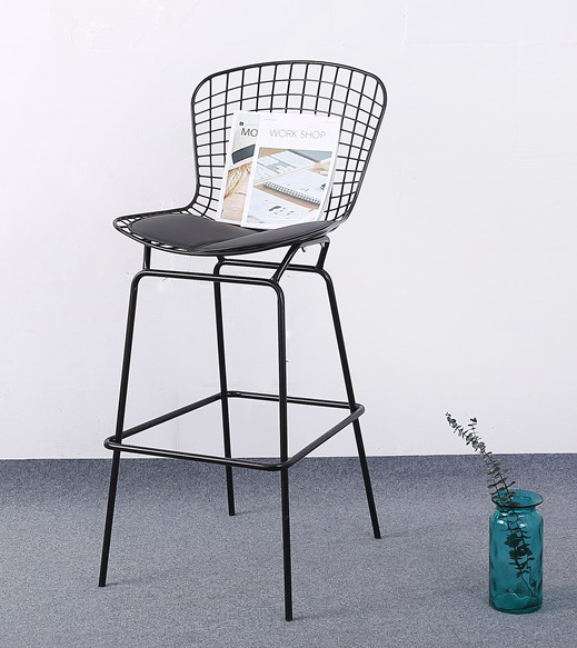 70cm Seat Height Modern Design Chromed Or Black Bertoia