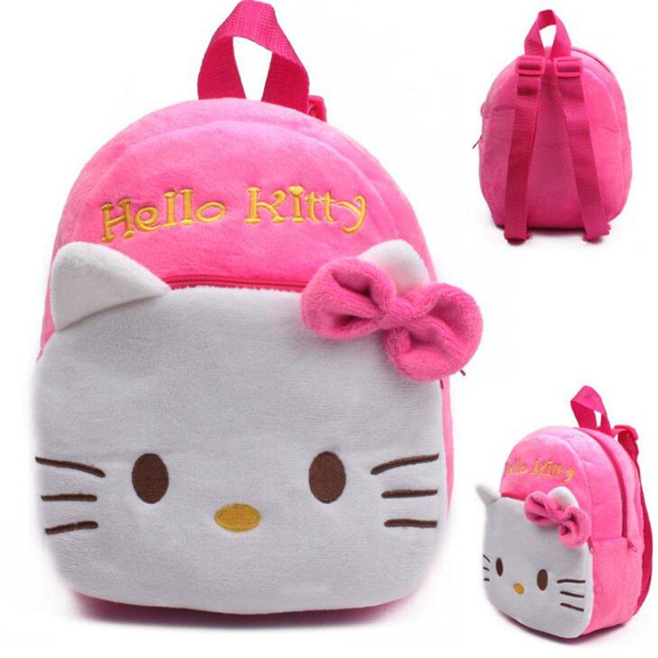 2018 Special Offer Hello Kitty Plush School Backpack For Girl Kindergarten Kid Baby Bag Children Mini Schoolbag Mochila Infant