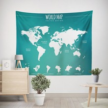 World map print wall tapestry hanging Nordic simple light weight tapestry room wall decor blanket beach towel bedspread yoga mat new printed wall hanging tapestry world map tapestry beach towel blanket carpet rectangular tablecloth room decorative tapestry