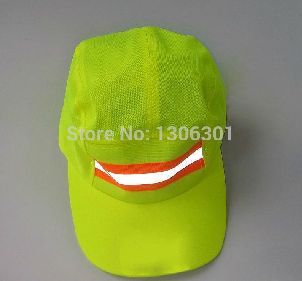 Reflective sanitation garden cap environmental safety helmet cleaner cap outdoor travel cap round cap size adjustable