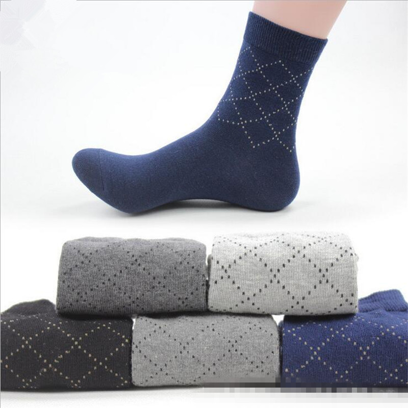 5 Pairs/lot High Quality Man Casual Socks Male High Cotton Men Dress Socks Pure Color Business Style Autumn Socks Men