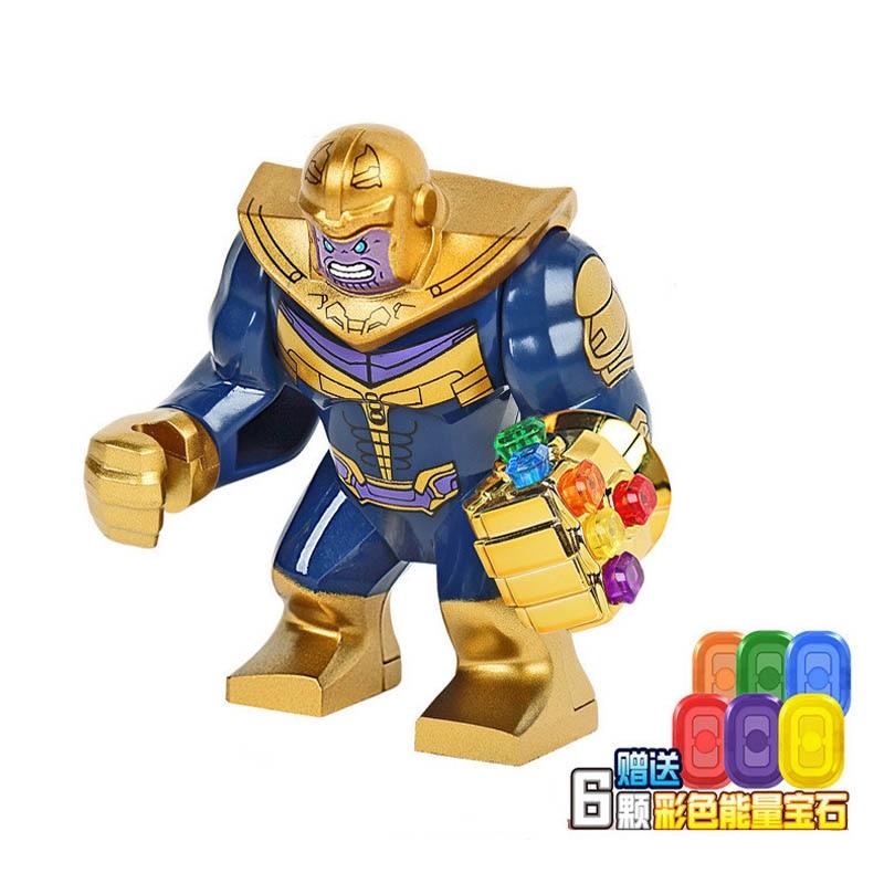 5Pcs Large Thanos Marvel Building Blocks Action Figure Bricks Avengers 4 Hero Hulk Gorilla Duplo in Blocks from Toys Hobbies