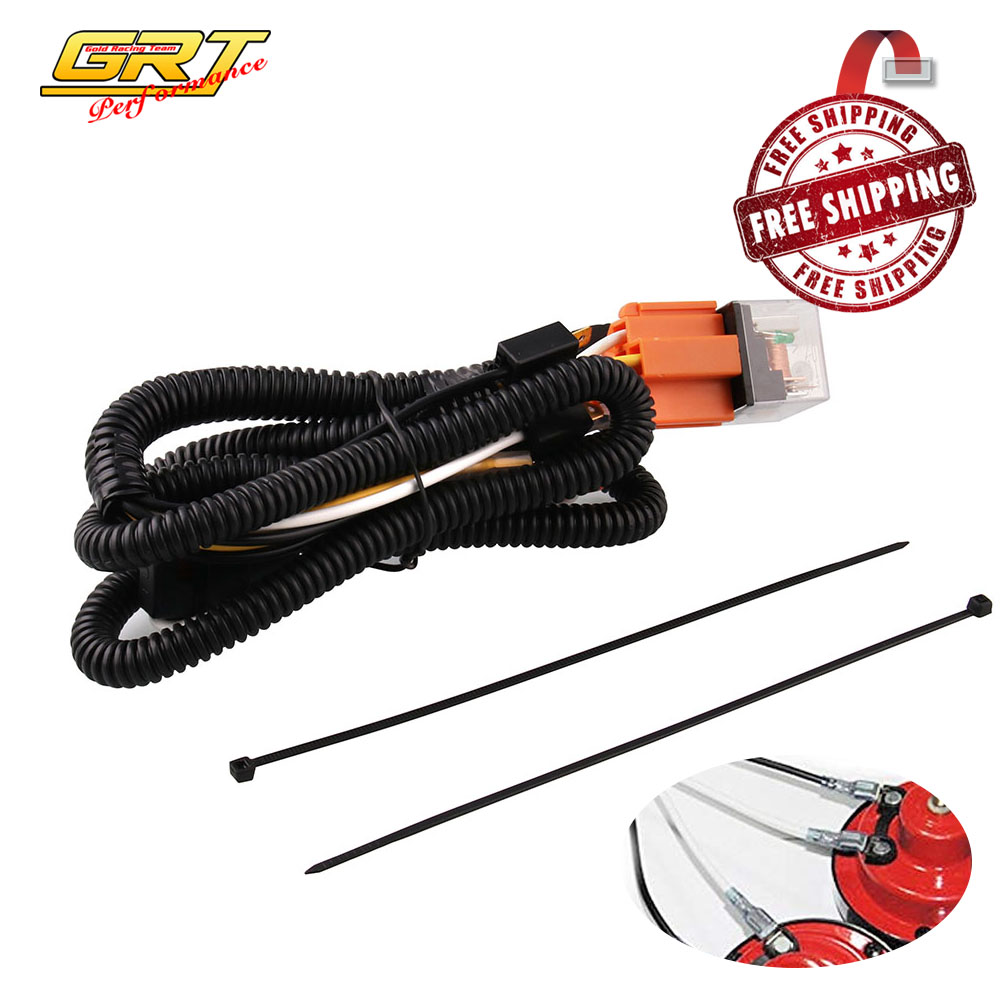 12v Horn Wiring Harness Relay Kit For Car Truck Grille Mount Blast