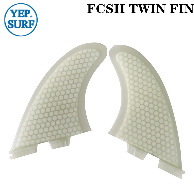 FCSII TWIN FIN Surfboard Fins TWIN FIN White color quillas surf fins in Surfing from Sports Entertainment