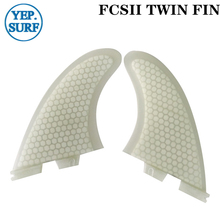 FCSII TWIN FIN Surfboard Fins TWIN FIN White color quillas surf fins цена