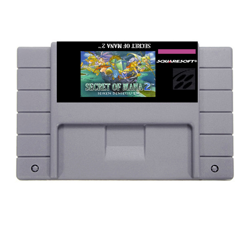 BIG SALE Secret of mana 2 Game Card For 46 Pin 16 Bit NTSC Game Player Save File! ...