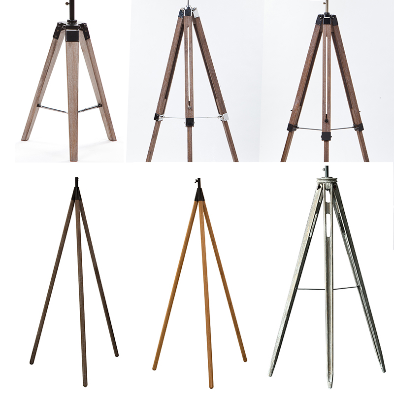 Wholesale wood floor lampstand vintage style tripod for Cheap tripod lamp