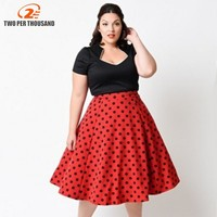 2016 New Pin Up Vestidos 5XL Plus Size Women Summer Retro Casual Elegant Party Robe Rockabilly