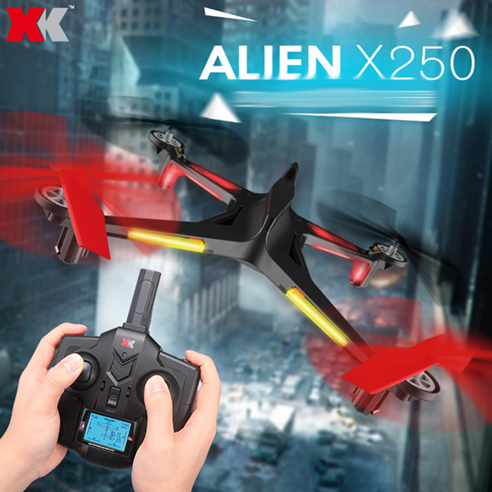 XK Alien X250 2.4G 4CH 6-Axis Gyro RC Headless Quadcopter With One Key Return Height Hold Helicopter Drone xk x250 4ch 6 axis rc quadcopter rtf 2 4g xk alien x250 free shipping
