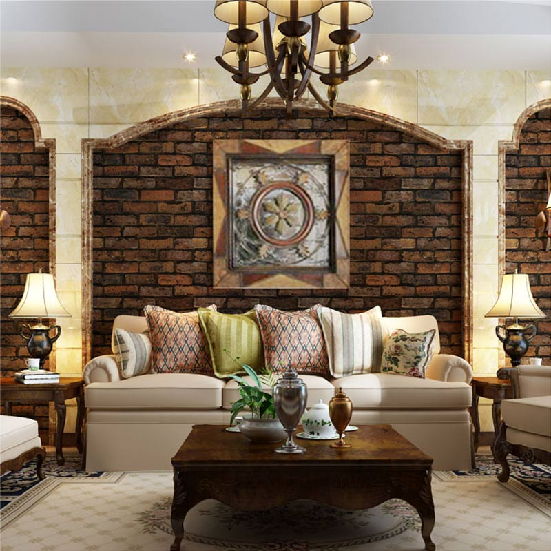 Real Kitchen Background brick effect wallpaper in kitchen. details about new luxury