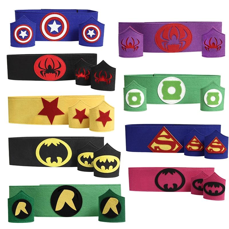 Superhero armband + waistband set -