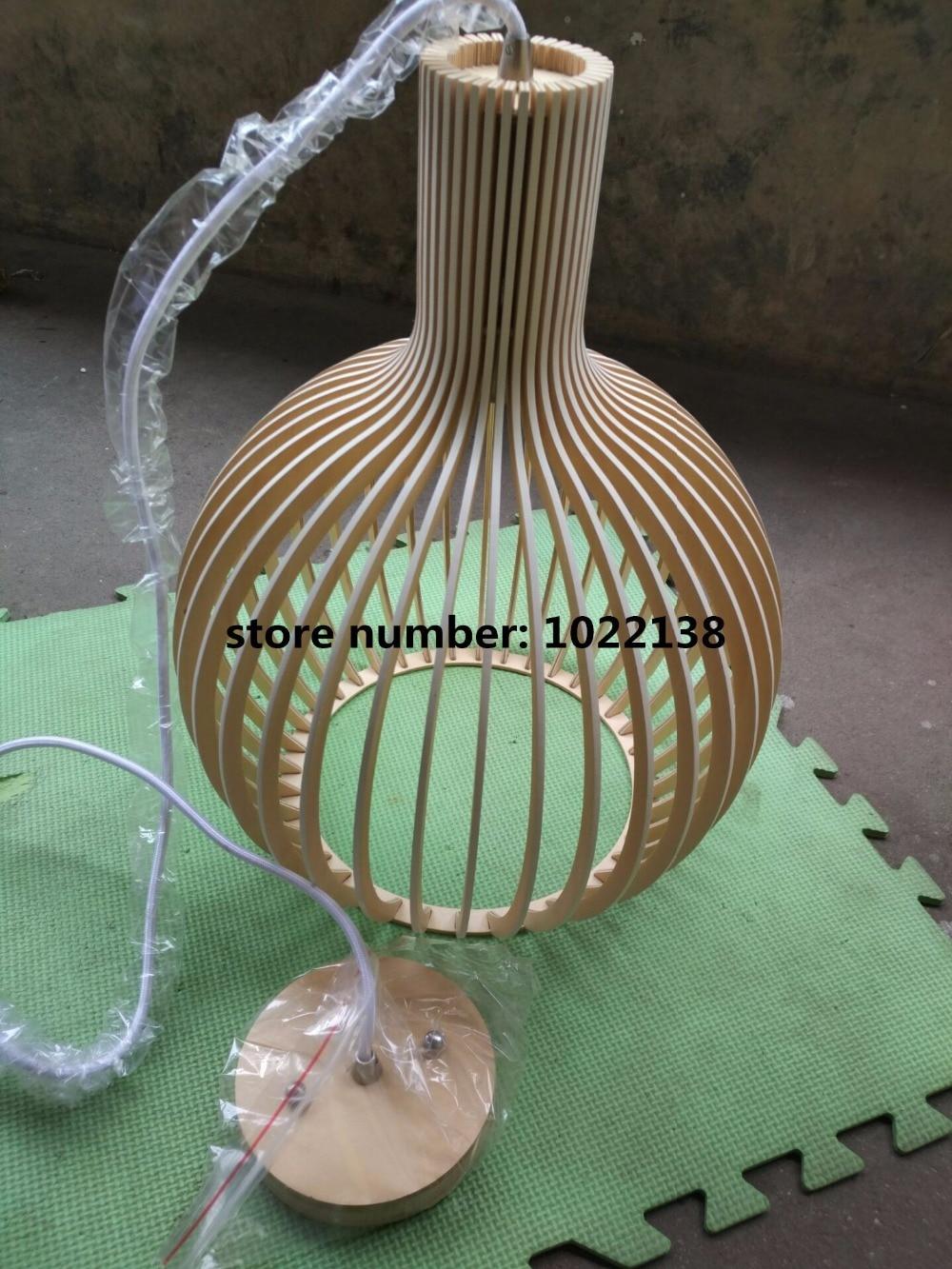 Image 4 - Modern Black Wood Birdcage E27 bulb Pendant light norbic home deco bamboo weaving wooden Pendant lamp-in Pendant Lights from Lights & Lighting