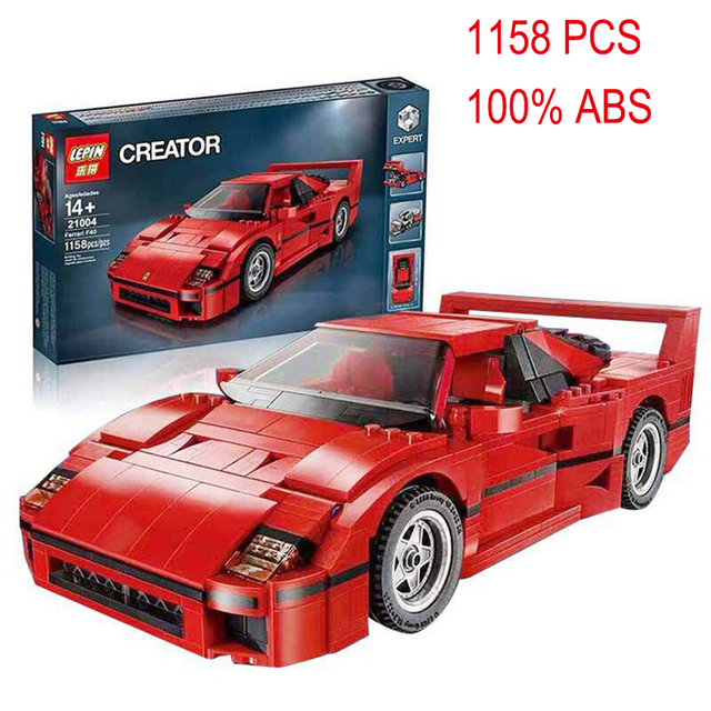 US $55 77 |LEPIN 21004 F40 Sports Car Model building kits compatible with  lego city 3D blocks Educational toys hobbies for children-in Blocks from