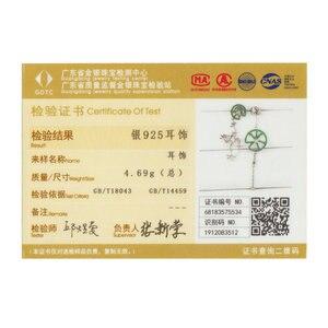 Image 5 - BAMOER אותנטי 925 כסף סטרלינג קפיצות צפרדע ירוק זירקון טיפת עגילים לנשים ארוך שרשרת בעלי החיים עגילי תכשיטי BSE027