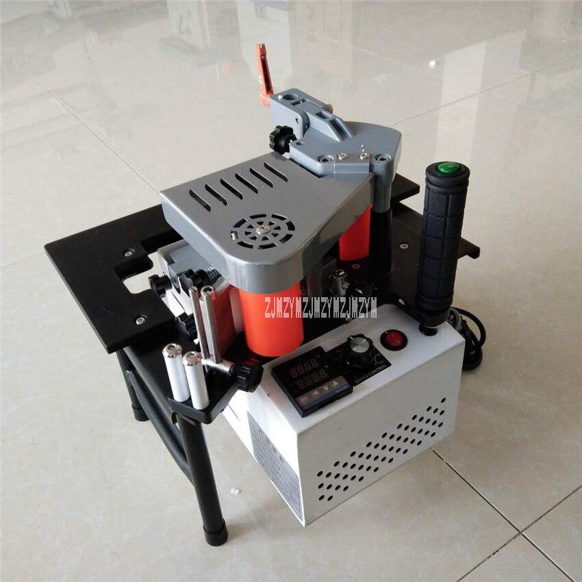 SC-40 Small Manual Edge Banding Machine Double Side Gluing Portable Edge Bander Woodworking Edge Banding Machine 110V/220V 750W