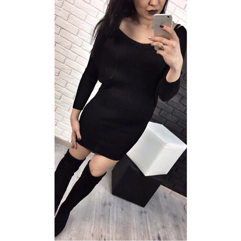 Women Spring Autumn Knitted Sweater Dress Cotton Slim Pullover Female Bodycon Party Club Wear Dresses new women spring autumn knitted sweater dress cotton slim pullover female bodycon party club wear dresses