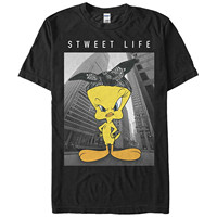 Gildan Tops Summer Cool Funny T Shirt Looney Tunes Tweety Bird Sweet Life Mens Graphic T