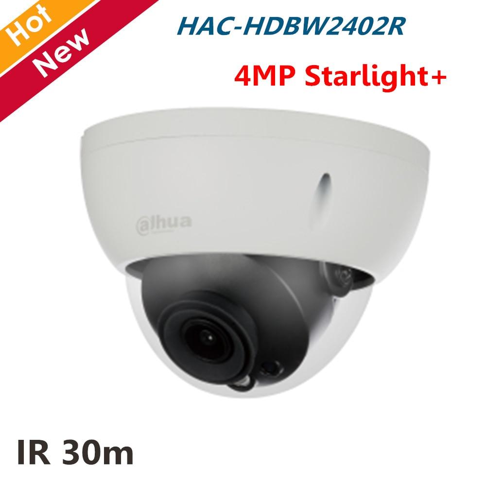 4MP Starlight+ HDCVI Camera HAC-HDBW2402R Max. 30fps Smart IR Good Night Vision Audio in interface Waterproof Survillance camera4MP Starlight+ HDCVI Camera HAC-HDBW2402R Max. 30fps Smart IR Good Night Vision Audio in interface Waterproof Survillance camera