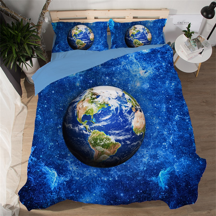 Outer Space Universe Galaxy Moon and Stars Bedding Set ...
