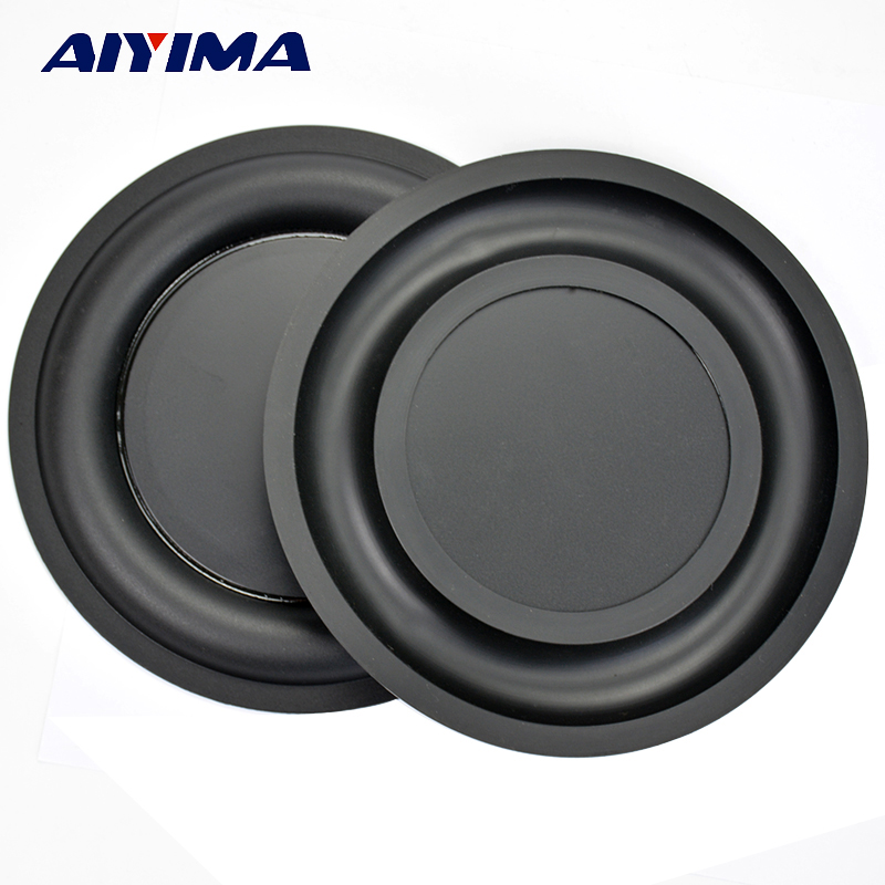 AIYIMA 2Pcs 6.5Inch Strengthen Bass Vibration Plate Membrane Passive Radiator Vibrating Diaphragm Speaker Bass Radiator