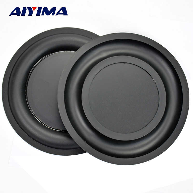 AIYIMA 2Pcs 6.5Inch Strengthen Bass Vibration Plate Membrane Passive Radiator Vibrating Diaphragm Speaker Bass Radiator