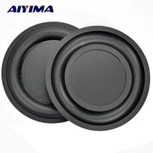AIYIMA 2 Pcs 6.5 นิ้วเสริมสร้าง Bass แผ่นเมมเบรนหม้อน้ำ Passive สั่นลำโพง Bass Radiator