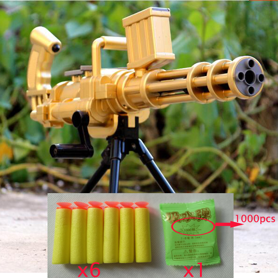 Guns For Boys Christmas Toys : Gatlin toy gun boy hand spinner soft bullet guns toys