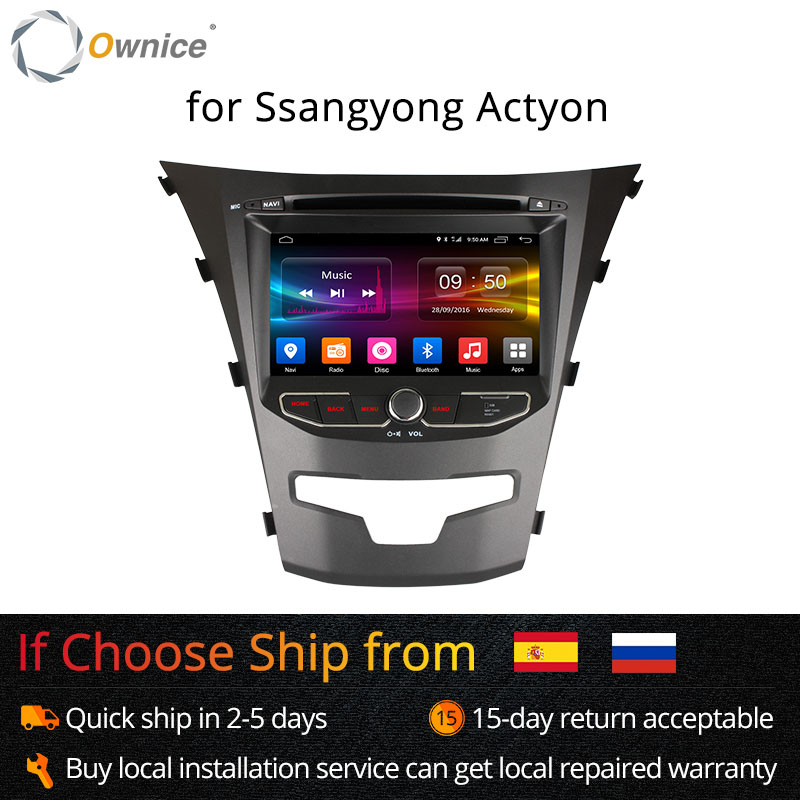 Ownice C500 Octa 8 Core android 6.0 pour ssangyong actyon 2014 korando Quad Core soutien 4G SIM LTE Réseau DAB + 2 GB RAM 32 GB ROM