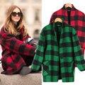 2015 Novo estilo Britânico casaco xadrez moda casua outwear Jaqueta de lã de alta qualidade dubai abaya turca roupas para mulheres wo72