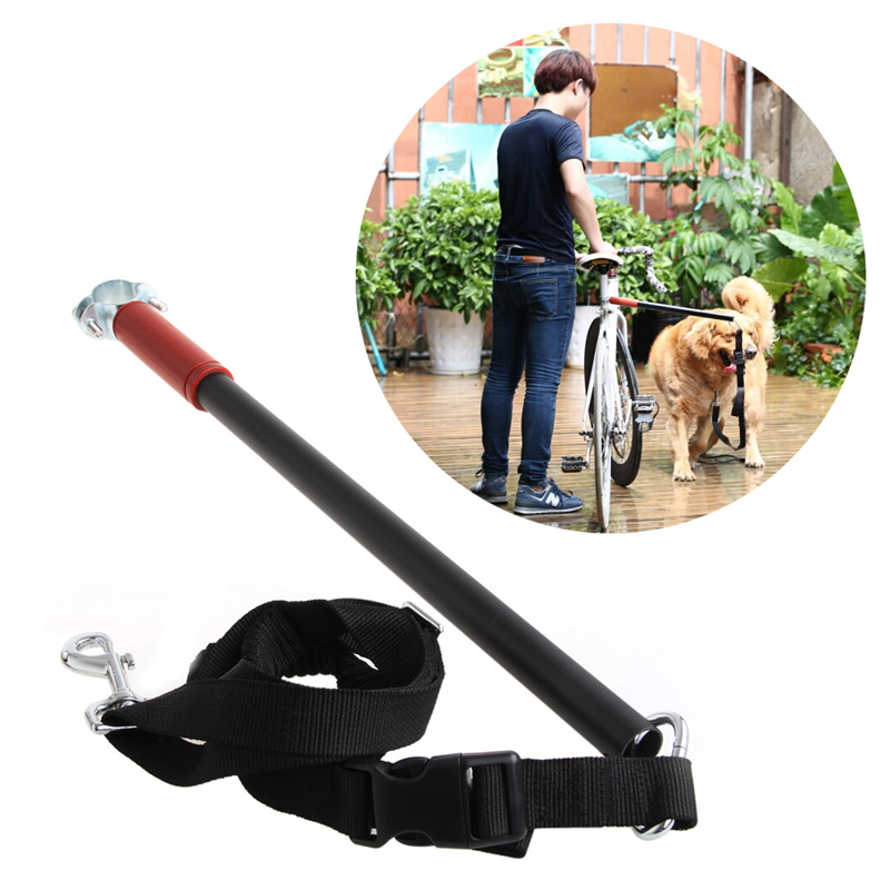 Pet Bicycle Leash Pet Safe Control Easy Soft No Pull Tug Free Safety Leash Dogs