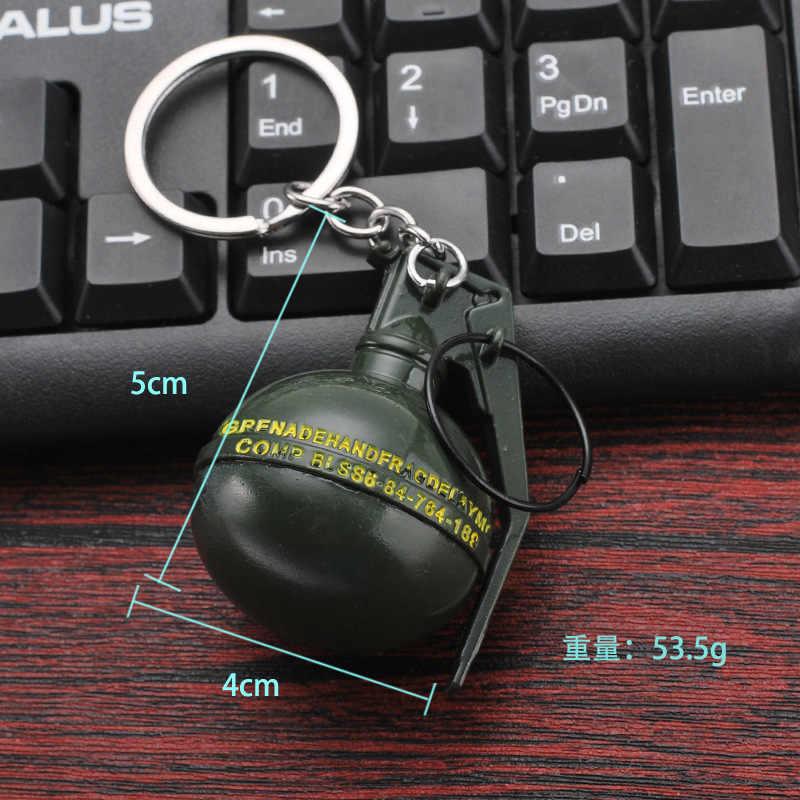 2018 חם PUBG FPS משחק נגן לא ידוע של קרב בטענה 3D Keychain נשק לאכול עוף משחק הלילה גברים של רכב keychain