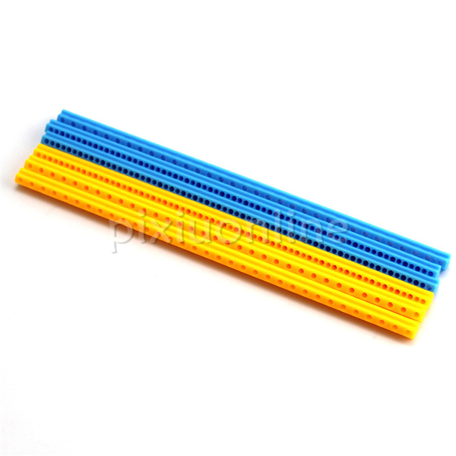 3sticks/lot J664 Yellow And Blue Color 165*7*7mm Multi-hole Plastic Stick Maker Use Free Shipping Italy