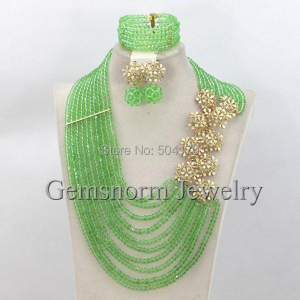 Amazing Bright Red Wedding Nigerian Beads Jewelry Set 2017 New