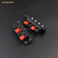 10PCS WP4-10 Large 4Pin Speaker Box Terminal Board Audio wire Clip 4 Feet spring clip Balck and Red jack plug socket