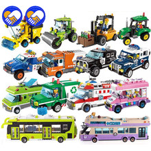 ingCity Girl Princess Outing Bus Car Building Blocks police Bricks Model Kids Classic Toys Compatible ings Friends Gift(China)