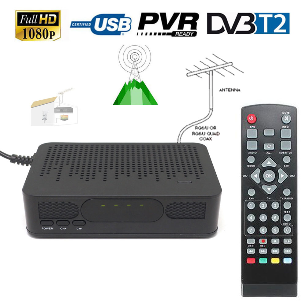 mini size dvb t2 dvb t fta hd digital terrestrial signal tv tuner receiver convertor 1080p tv. Black Bedroom Furniture Sets. Home Design Ideas