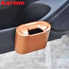 Kayme car trash bin universal car organizer garbage cans rubbish storage box case dust bin holder auto dustbin bag high quality