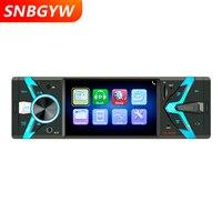 Radio Car 1 DIN 12V Car Audio Stereo Bluetooth SD USB TF MP3 MP4 Multimedia Player 4.1 inch Screen Rear Camera Input DH057