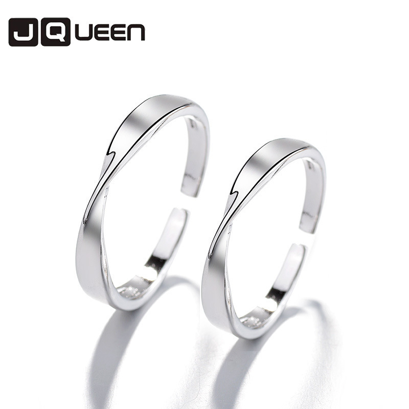 Precise Minimalist Adjustable 2018 Copper Opening Couple Rings Hipster Mobius Ring For Women Men All-match Jewelry Student Gift Wholsale