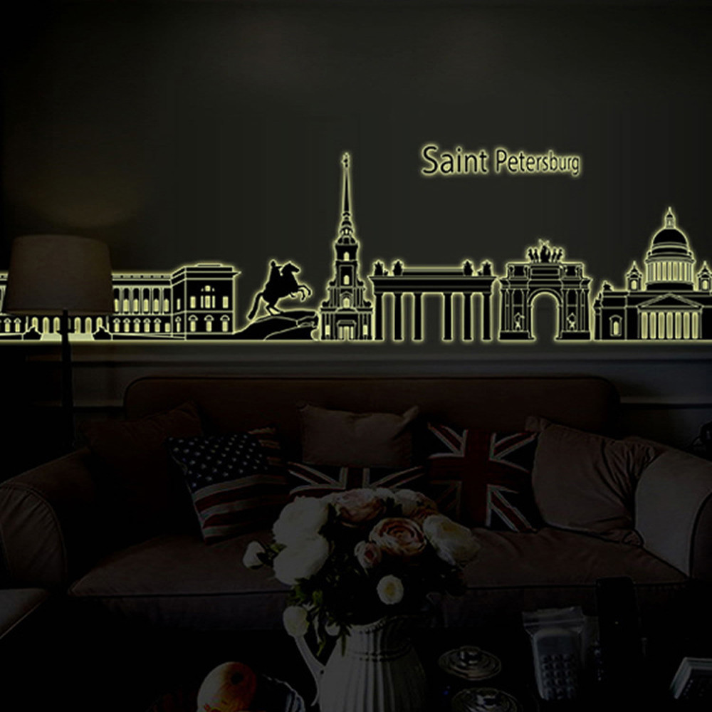 Wall stickers glowing - 3d Wall Stickers Glow In The Dark Luminous Stickers Living Room Bedroom Decoration Wall Stickers