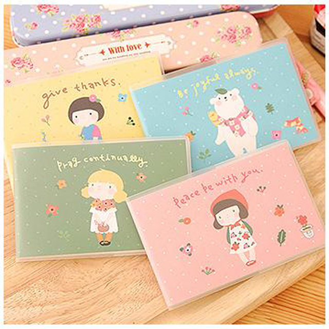 4pcs/lot 10.6*7.2cm Korean Girl Jacket Book Lovely Cartoon Trumpet Portable Notebook Student Supplies Stationery Prizes Notes