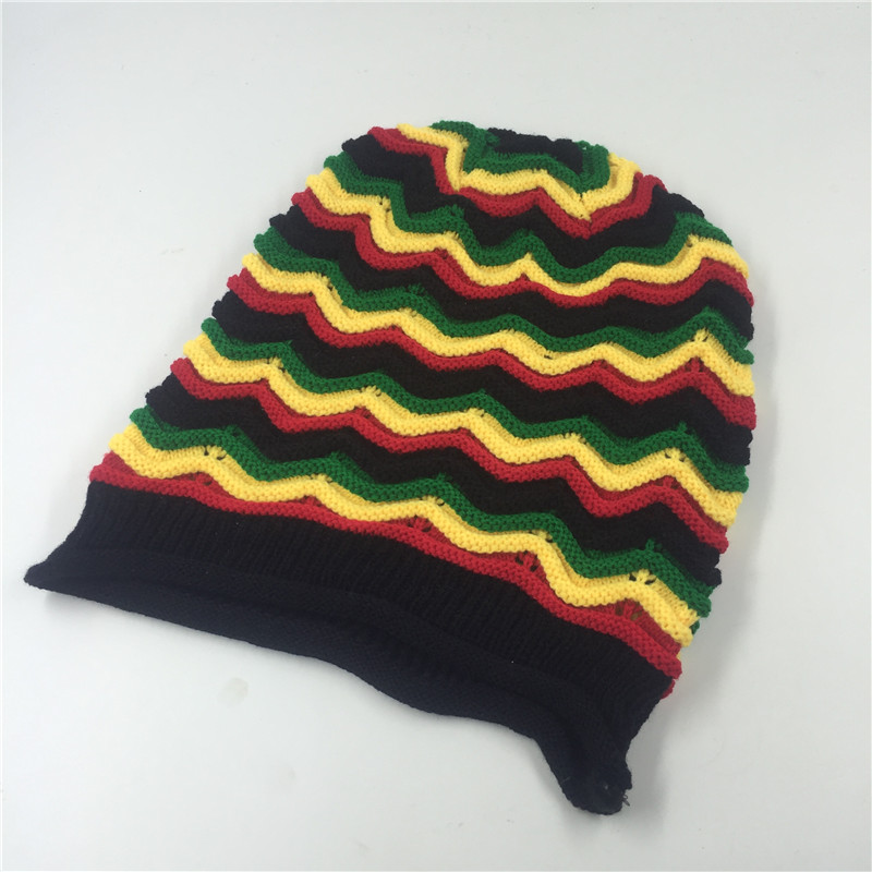 Fashion Rainbow Hats 2017 Winter Hip Hop Bob Marley Jamaican Rasta
