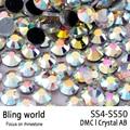 Flatback Round 1440pcs Mix Size SS4-SS50 Crystal AB DMC Hotfix Rhinestones for Clothing Accessories Women bag Decor