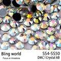 Flatback Redondo 1440 unids Mix Tamaño SS4-SS50 Crystal AB DMC Hotfix del rhinestone para la Ropa Accesorios Mujeres bolsa de Decoración