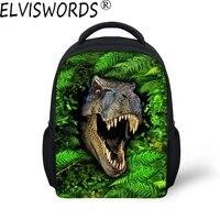 DOGINTHEHOLE 2017 Chłopców Fajne 3D Dinosaur Drukowane Tornister dla Zoo Animal Beast Bookbags dla Uczeń uczeń Dzieci Mini Światła Bolsa