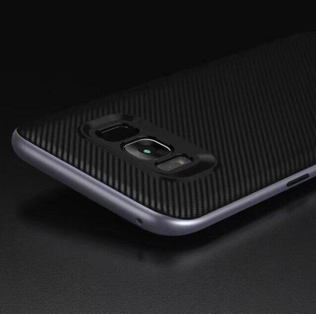 Moda A Prueba de Golpes Para Samsung Galaxy S8 Más Coque Silicio Híbrido PC Acce