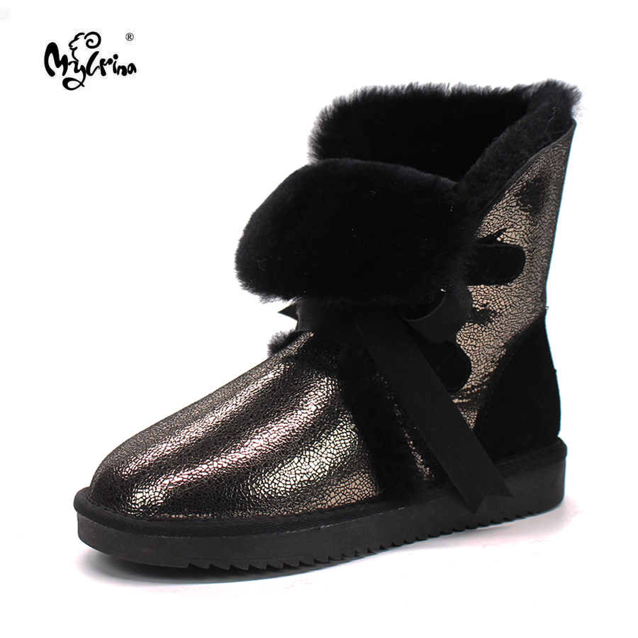 Wholesale retail 2018 Australia High quality Women s Classic Snow Boots real Sheepskin medium style winter