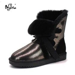 Wholesale/retail 2018 Australia High quality Women's Classic Snow Boots real Sheepskin medium style winter boots womens