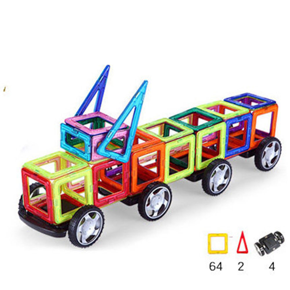 Lincoln Car Shape Magnetic Designer Building Blocks Model & Building Toys Brick Enlighten Bricks Magnetic Toys for Children standing in for lincoln green